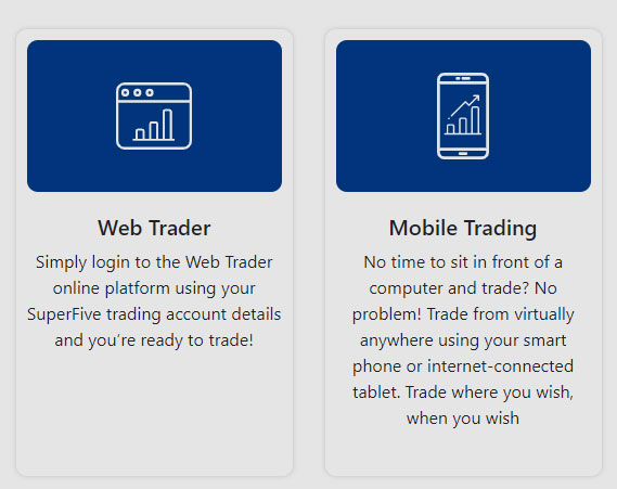 SuperFive trading platform