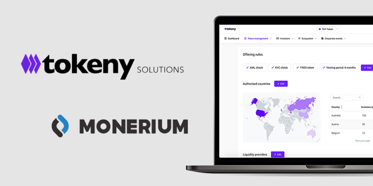 Tokeny Solutions adds Monerium's digital euro gateway to its security token platform