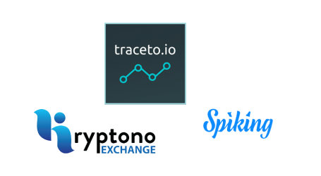 Traceto.io adds to KYC network with Kryptono Exchange and Spiking