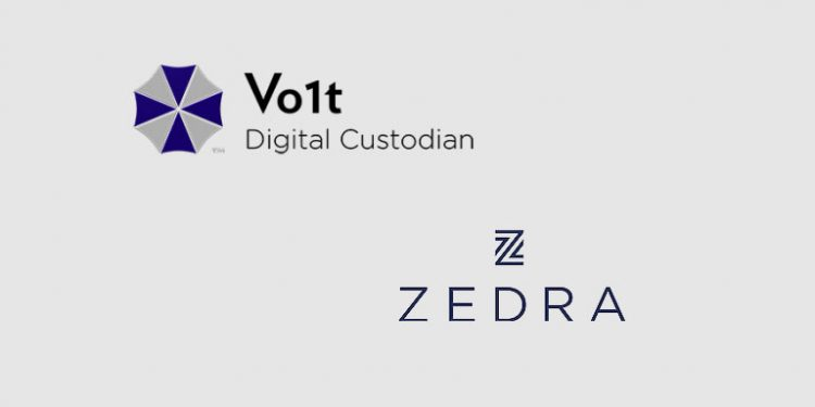 Crypto asset custodian Vo1t forms new partnership with ZEDRA