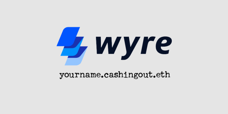 Wyre's cashingout.me instantly turns crypto donations to cash, and deposits to bank accounts