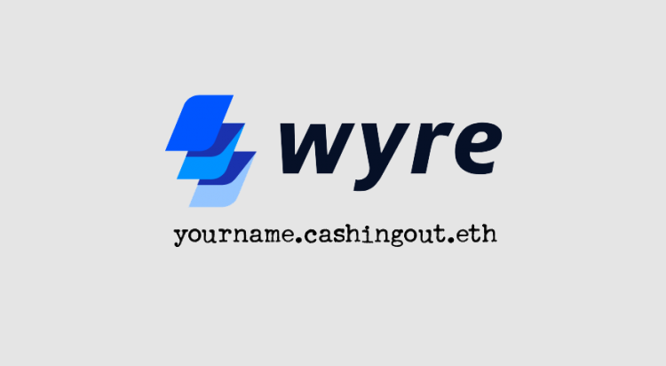 Wyre'scashingout.meinstantly turns crypto donations to cash, and deposits to bank accounts