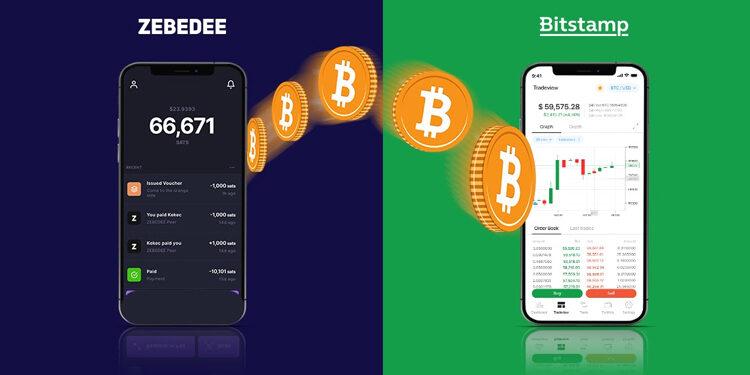 Crypto exchange Bitstamp integrates ZEBEDEE's bitcoin gaming wallet