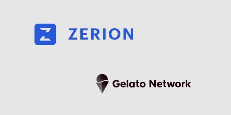 DeFi aggregator Zerion integrates Gelato for auto smart contract execution